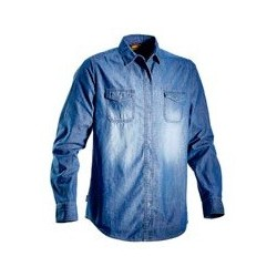 Camicia Denim Blu Washing...