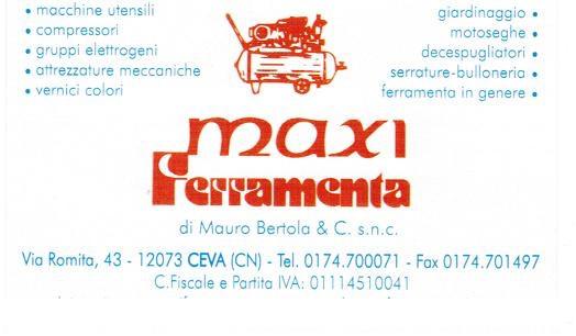 MaxiFerramenta di Mauro Bertola & C. SnC - p.iva 01114510041